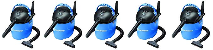 Vacmaster 2.5 Gallon, 2 Peak HP, Portable Wet/Dry Vacuum, VP205 (5-(Pack))