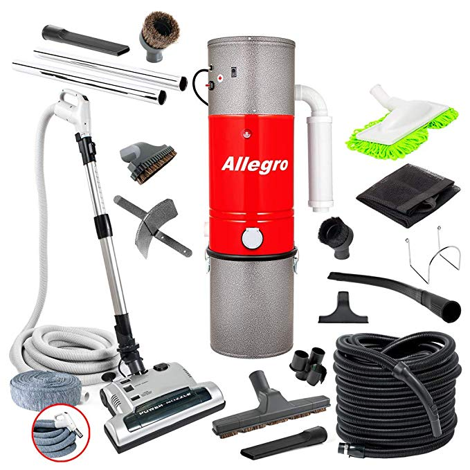 Allegro MU4500 Champion - 6,000 Square Foot Home Central Vacuum System 35 Foot Electric Hose