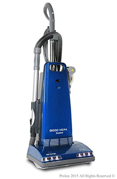 New Prolux 9000 Upright Sealed HEPA vacuum with 12 AMP Motor on board tools and 7 Year Warranty!