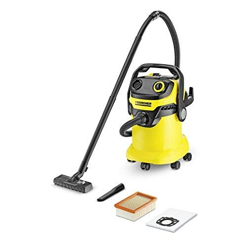Karcher WD5 Multi-Purpose Wet Dry Vacuum Cleaner with 1800W Motor, Space-Saving Design