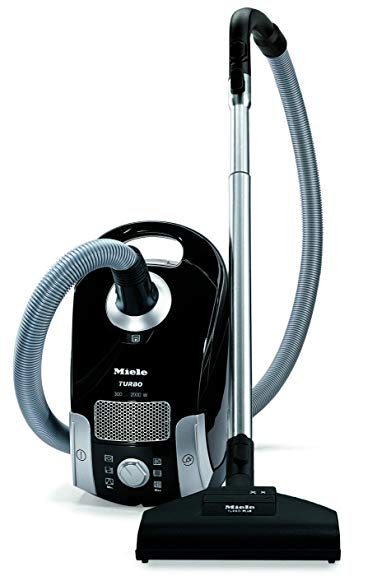 Miele Compact C1 Turbo Team Canister Vacuum,Obsidian Black