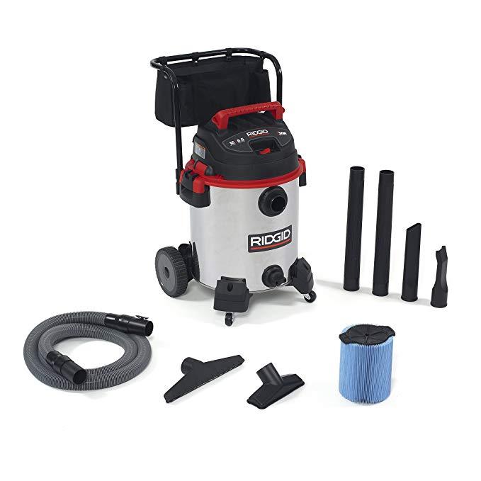 Ridgid 50353RID 1610RV Wet/Dry Vacuum, Stainless Steel, 16 gal, Red