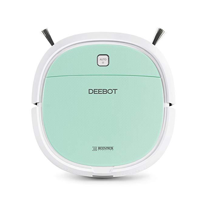 Ecovacs DK560 Deebot Mini Robotic Vacuum, White/Mint Green